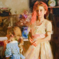 """Pino Signed """"Best Friends"""" Artist Embellished Limited Edition 32x40 Giclee on Canvas at PristineAuction.com"""