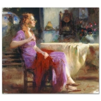 "Pino Signed ""Longing For"" Artist Embellished Limited Edition 36x32 Giclee on Canvas at PristineAuction.com"