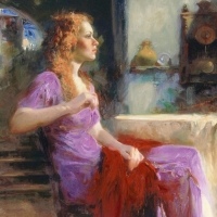 """Pino Signed """"Longing For"""" Artist Embellished Limited Edition 36x32 Giclee on Canvas at PristineAuction.com"""