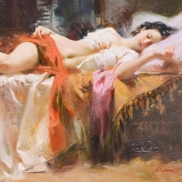 """Pino Signed """"Restless Beauty"""" Artist Embellished Limited Edition 40x28 Giclee on Canvas at PristineAuction.com"""