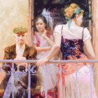 """Pino Signed """"Family Time"""" Artist Embellished Limited Edition 32x40 Giclee on Canvas at PristineAuction.com"""