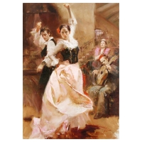 "Pino Signed ""Dancing in Barcelona"" Artist Embellished Limited Edition 48x34 Giclee on Canvas at PristineAuction.com"