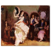 "Pino Signed ""The Last Dance"" Artist Embellished Limited Edition 38x46 Giclee on Canvas"