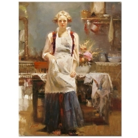 "Pino Signed ""Warm Memories"" Artist Embellished Limited Edition 34x44 Giclee on Canvas at PristineAuction.com"