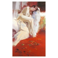 "Pino Signed ""Fanciful Dream"" Artist Embellished Limited Edition 28x46 Giclee on Canvas at PristineAuction.com"