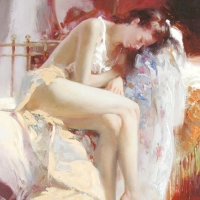 """Pino Signed """"Fanciful Dream"""" Artist Embellished Limited Edition 28x46 Giclee on Canvas at PristineAuction.com"""