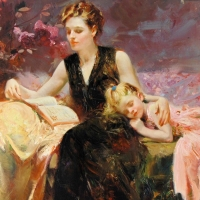 "Pino Signed ""Precious Moments"" Artist Embellished Limited Edition 36x48 Giclee on Canvas at PristineAuction.com"