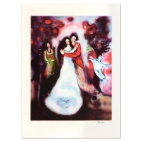 """Raya Sorkine Signed """"Le Mariage"""" Limited Edition 21x29 Lithograph at PristineAuction.com"""