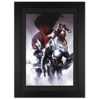 """Stan Lee Signed """"Invasion #6"""" Extremely Limited Edition 25x34 Custom Framed Giclee on Canvas by Gabriele Dell'Otto and Marvel Comics #/10"""
