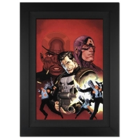 """Stan Lee Signed """"Ultimate Avengers #1"""" Extremely Limited Edition 29x40 Custom Framed Giclee on Canvas by Leinil Francis Yu & Marvel Comics #/10"""