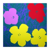 "Andy Warhol ""Flowers 11.65"" 36x36 Silk Screen Print from Sunday B Morning at PristineAuction.com"