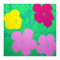 "Andy Warhol ""Flowers 11.68"" 36x36 Silk Screen Print from Sunday B Morning at PristineAuction.com"
