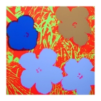 "Andy Warhol ""Flowers 11.69"" 36x36 Silk Screen Print from Sunday B Morning at PristineAuction.com"