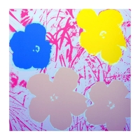 "Andy Warhol ""Flowers 11.70"" 36x36 Silk Screen Print from Sunday B Morning at PristineAuction.com"