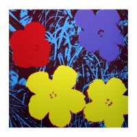 """Andy Warhol """"Flowers 11.71"""" 36x36 Silk Screen Print from Sunday B Morning at PristineAuction.com"""