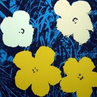 """Andy Warhol """"Flowers 11.72"""" 36x36 Silk Screen Print from Sunday B Morning at PristineAuction.com"""
