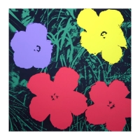 """Andy Warhol """"Flowers 11.73"""" 36x36 Silk Screen Print from Sunday B Morning at PristineAuction.com"""