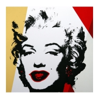 """Andy Warhol """"Golden Marilyn 11.37"""" Limited Edition 36x36 Silk Screen Print from Sunday B Morning at PristineAuction.com"""