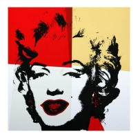 """Andy Warhol """"Golden Marilyn 11.38"""" Limited Edition 36x36 Silk Screen Print from Sunday B Morning at PristineAuction.com"""