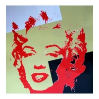 """Andy Warhol """"Golden Marilyn 11.44"""" Limited Edition 36x36 Silk Screen Print from Sunday B Morning at PristineAuction.com"""