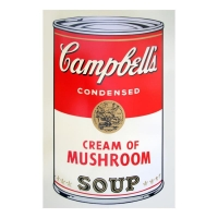 """Andy Warhol 23x23 """"Soup Can 11.53 (Cream of Mushroom)"""" Silk Screen Print from Sunday B Morning at PristineAuction.com"""