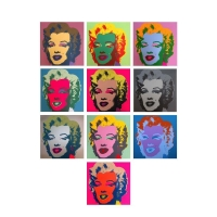 "Andy Warhol ""Classic Marilyn Portfolio"" 36x36 Suite of (10) Silk Screen Prints from Sunday B Morning"