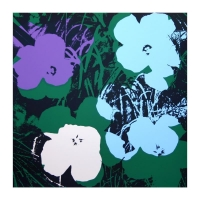 "Andy Warhol ""Flowers Portfolio"" 36x36 Suite of (10) Silk Screen Prints from Sunday B Morning at PristineAuction.com"