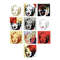 "Andy Warhol ""Golden Marilyn Portfolio"" Limited Edition 36x36 Suite of (10) Silk Screen Prints from Sunday B Morning at PristineAuction.com"