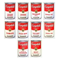 "Suite of (10) Andy Warhol 36x36 ""Soup Can Series I"" Silk Screen Prints from Sunday B Morning"