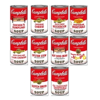 "Andy Warhol ""Soup Can Series 2"" Limited Edition 23x35 Suite of (10) Silk Screen Prints from Sunday B Morning at PristineAuction.com"