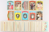 Partial Set of (400+) 1972 Topps Baseball Cards with #434 Johnny Bench IA, #130 Bob Gibson, #447 Willie Stargell