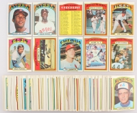 Lot of (145) 1972 Topps Baseball Cards with #216 Joe Niekro, #253 Sandy Alomar, #272 Mickey Rivers RC