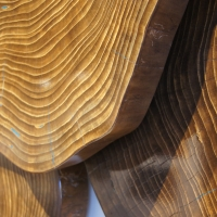 """Blue Cookies"" 69x52x7 Original Wood Art by Adam Schwoeppe at PristineAuction.com"