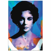 """Elizabeth Taylor The Color of Passion"" 22x32 Contemporary Hollywood Pop Art, Ltd. Ed. Giclee on Metal by Mark Lewis"