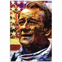 """John Wayne Faded Glory"" 22x32 LE Contemporary Pop Art Giclee on Aluminum by Mark Lewis"