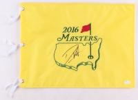 Danny Willett Signed 2016 Masters Tournament Golf Pin Flag (JSA COA)