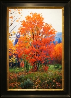 """Drizzly Autumn"" 24x36x1 Original Tree Painting by Douglas Aagard"