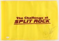 """Dale Earnhardt Jr. Signed 'The Challenge at Split Rock"""" Golf Pin Flag (JSA COA)"""