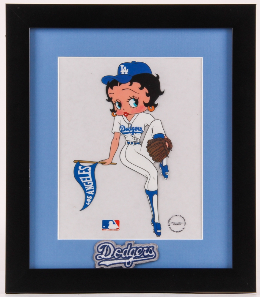 Betty Boop LE Cubs 13x15 Custom Framed Animation Serigraph Cel with Patch at PristineAuction.com
