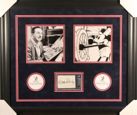Walt Disney Signed 23x27 Custom Framed Cut Display (BGS Encapsulated)