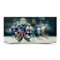 Grant Fuhr Signed Edmonton Oilers 15x30 Limited Edition Collage Photo (UDA COA) at PristineAuction.com