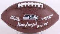 "Steve Largent Signed Seahawks Logo Football Inscribed ""HOF 95"" (Schwartz COA)"