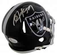 Bo Jackson Signed Raiders Blaze Mini-Helmet (Jackson Hologram & JSA COA)