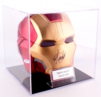 Stan Lee Signed Marvel Iron Man Helmet with Display Case (PSA COA)