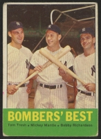 1963 Topps #173 Bomber's Best / Tom Tresh / Mickey Mantle / Bobby Richardson