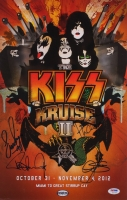 """KISS"" 11x17 Photo Signed by (4) with Paul Stanley, Gene Simmons, Eric Singer & Tommy Thayer (PSA LOA)"