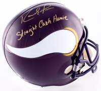 "Randy Moss Signed Vikings Full-Size Helmet Inscribed ""Straight Cash Homie"" (JSA COA)"