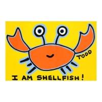 "Todd Goldman Signed ""Shellfish"" 24x36 Original Acrylic Painting on Canvas"