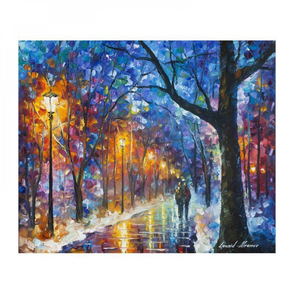 Leonid Afremov Signed Warmed By Love 20x24 Original Oil Painting On Canvas Pristine Auction