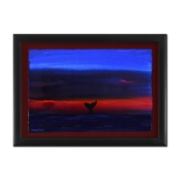 """Wyland Signed """"Whale Tale"""" 22x30 Custom Framed Original Watercolor Painting at PristineAuction.com"""